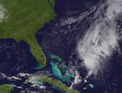 Photo: NHC has downgraded Tropical Storm Patty to a tropical depression, as the increasing wind shear over the system takes it toll. Maximum sustained winds are now 35 mph. Further weakening is expected, and Patty could become a remnant low in 24 hours, if not sooner.  It's centered tonight about 265 miles east-northeast of the central Bahamas and has moved very little today. A west-southwest motion is expected on Saturday and continuing through its dissipation.  Get the latest information, including graphics, on the NOAA NHC website at www.hurricanes.gov