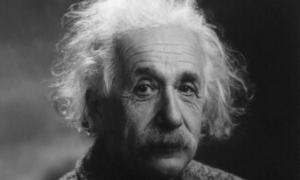 Albert Einstein, photo, black and white,1947