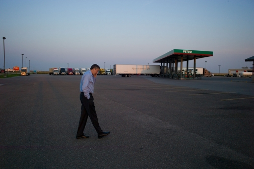 Secretary Duncan at a Truck Stop