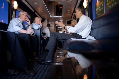 Secretary Duncan Meeting on the Bus