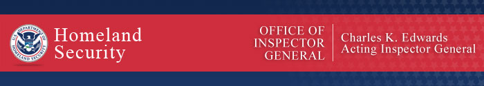 DHS OIG banner