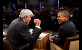 President Barack Obama Jokes With Host Jay Leno