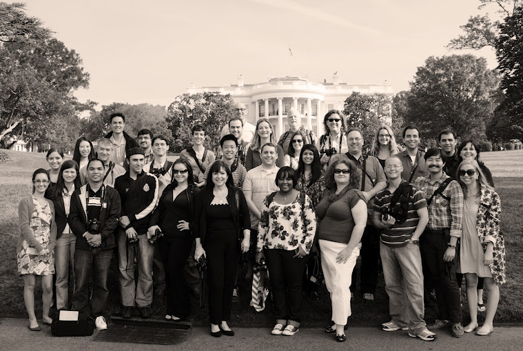 The participants of the first White House Photowalk on the South Lawn, photographed by Charles Lu. View this photo and more by Charles at: http://goo.gl/mwcnd