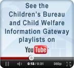 Children's Bureau and Child Welfare Information Gateway playlists on YouTube