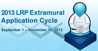 Loan Repayment program 2013 applications September 1 to November 15, 2012
