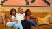 President Obama And His Daughters Watch The First Lady On Television