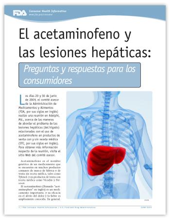 El acetaminofeno y las lesiones hepáticas: Preguntas y respuestas para los consumidores -- (JPG)