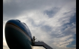 President Obama Boards Air Force One at Dayton International Airport