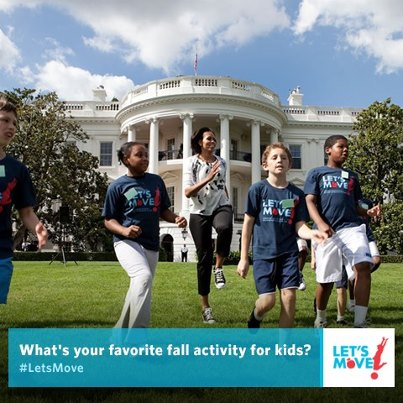 Photo: What's your favorite fall activity to get kids moving? We'll highlight some of our top picks on http://LetsMove.gov