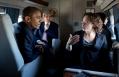 President Obama Talks with Advisor Karen Dunn Aboard Marine One