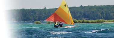 Sailboat on Higgins Lake