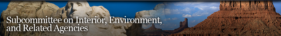 Interior, Environment, and Related Agencies Banner
