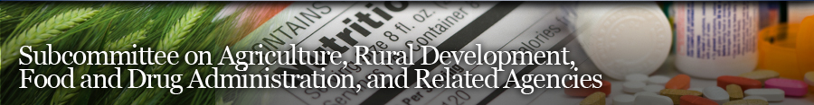 Agriculture, Rural Development, Food and Drug Administration, and Related Agencies Banner
