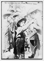 """Boy Scout, Paris, Selling """"Journee Francaise"""" Medals  (LOC)"""
