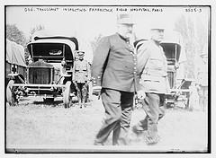 Gen. Troussaint inspecting Fahnestock Field Hospital, Paris  (LOC)
