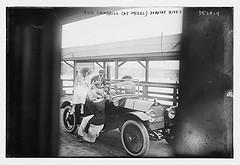 Dick Gambrill (at wheel), Dorothy Rives  (LOC)
