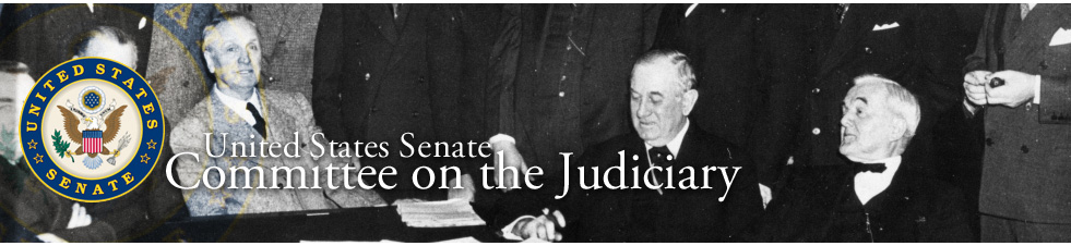 Senate Judiciary Committee Home Page Banner
