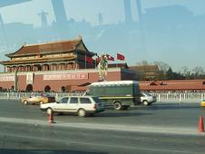 Driving through Tiananmen Square