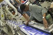 GPO bindery employee working on 2013 budget