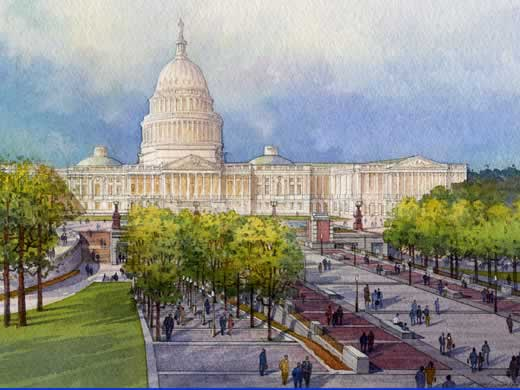 Artist's rendition of the Capitol Visitor Center