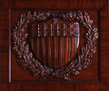 Image: Ohio Clock Carved Shield