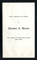 Image:  Order of Services, 1929 Theodore E. Burton Funeral (Cat. no. 11.00004.00b)