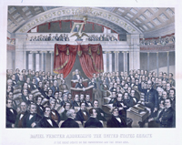 Daniel Webster Addressing the United States Senate / in the great debate on the constitution and the union 1850.