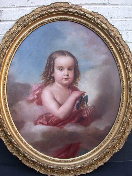Portrait of a Child with Moth (probably Kate Bennitt)