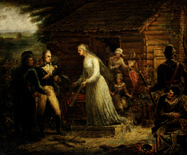 Mrs. Motte Directing Generals Marion and Lee to Burn Her Mansion to Dislodge the British