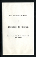 Image:  Order of Services, 1929 Theodore E. Burton Funeral (Cat. no. 11.00004.00b)