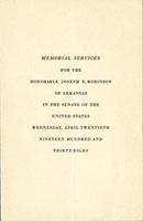 Image: Program, 1937 Joseph T. Robinson Funeral (Cat. no. 11.00045.022)