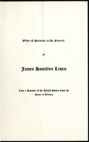 Image:  Order of Services, 1939 J. Hamilton Lewis Funeral (Cat. no. 11.00004.00f)