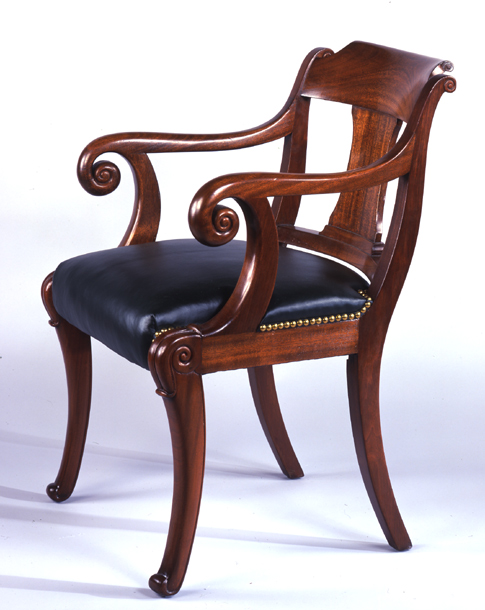 Russell Senate Office Building Square Arm Chair