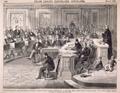 "Taking the Vote on the Impeachment of President Johnson, Senate Chamber, Washington, D.C., May 16th, 1868.—Senator Ross, of Kansas, Voting ""Not Guilty."""