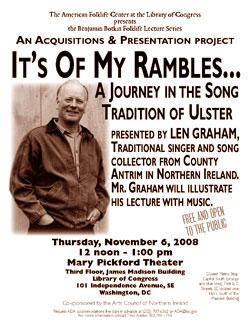 Len Graham event flyer