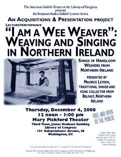 Maurice Leyden event flyer