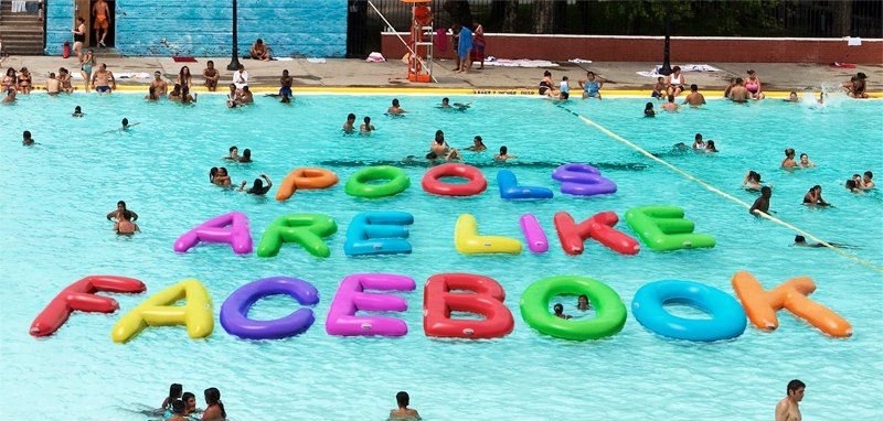 Photo: Swimming pools are filled with people. Some you know. Some you don't. And every once in a while you see something that maybe you shouldn't. That's why swimming pools are a little like Facebook.