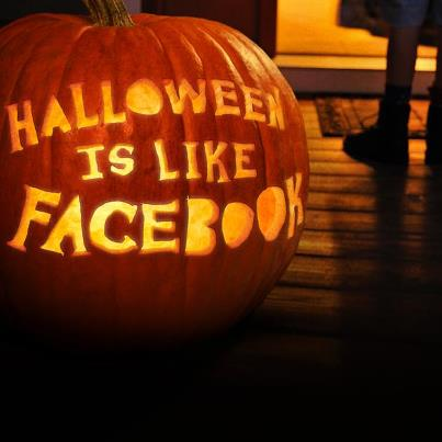 Photo: Halloween gives people a chance to be scary or funny or sexy or, sometimes, a little bit of all three. Halloween lets people express themselves. That is why Halloween is like Facebook.