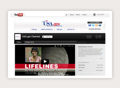 Visit the USA.gov YouTube channel to watch government videos.