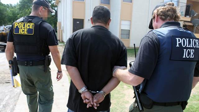 ICE arresting fugitive