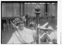 Mrs. Van Winkle and Suffrage torch  (LOC)
