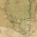 Carte particulière d'une partie de la Louisianne ou les fleuve et rivierres [i.e. rivières] onts etés relevé a l'estime & les routtes [i.e. routes] par terre relevé & mesurées aux pas, par les Srs. Broutin, de Vergés, ingénieurs & Saucier dessinateur