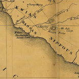 Map of Liberia, West Africa.