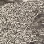 Aero view of Peekskill, New York 1911.