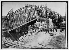 Germans rebuild bridge at Lemberg  (LOC)
