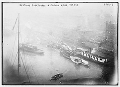 EASTLAND overturned in Chicago River, 7/24/15  (LOC)