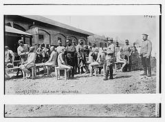 Disinfecting German soldiers  (LOC)