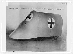 """A red cross moving """"Fort"""". For rescuing between trenches  (LOC)"""