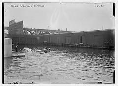 Morse aeroplane capsized  (LOC)