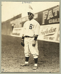 [Casey Stengel, full-length portrait, wearing sunglasses, while playing outfield for the Brooklyn Dodgers] (LOC)